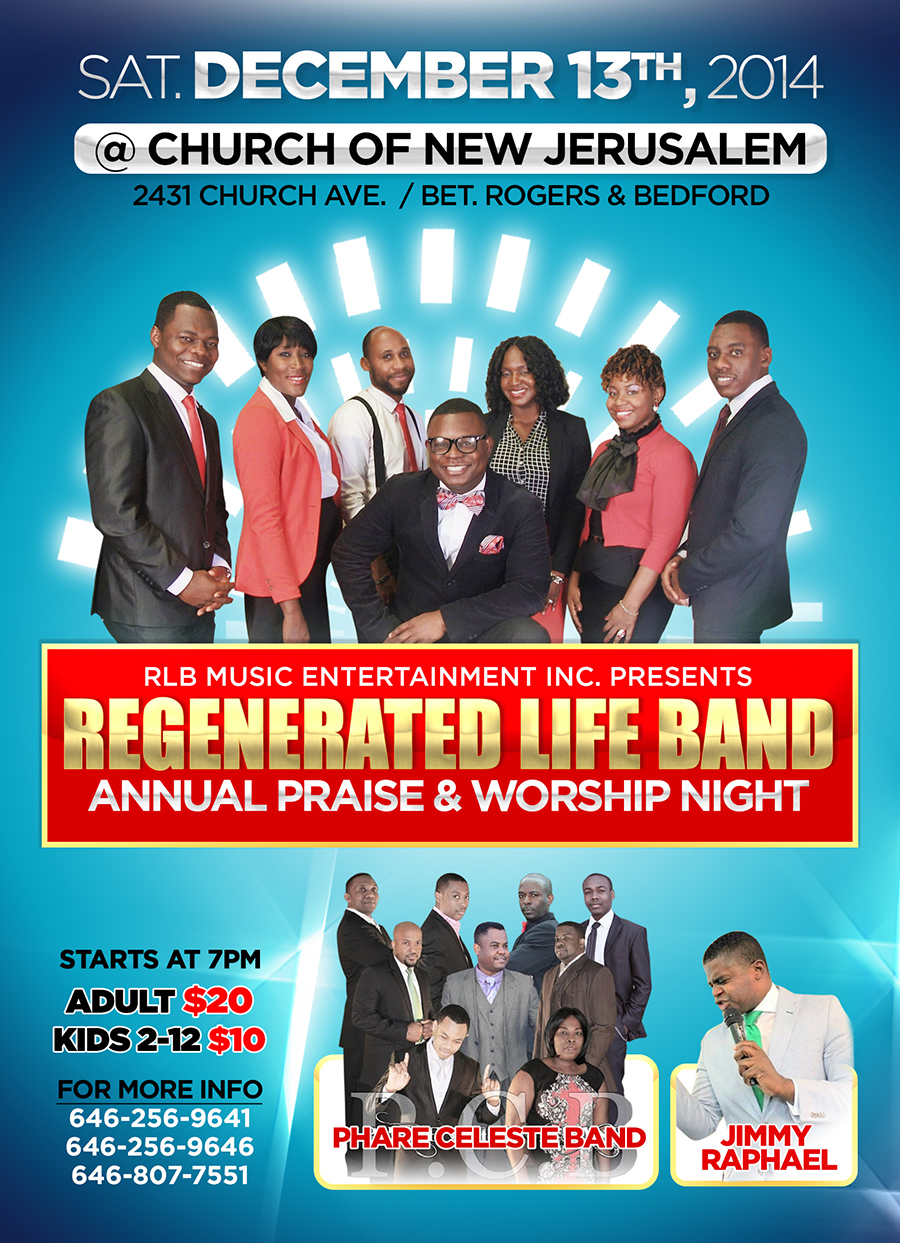 RLB Annual Praise & Worship Night Concert Saturday December 13th 2014 in Brooklyn NY