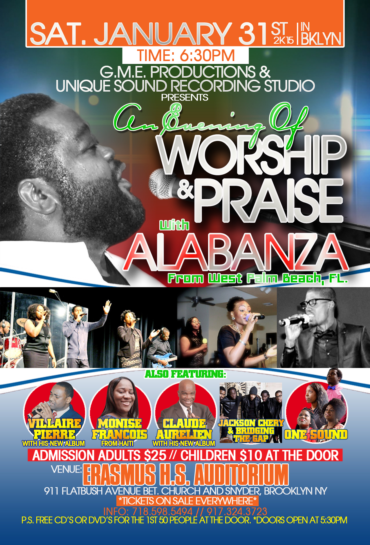 Alabanza in Concert Saturday January 31st & Sunday February 1st 2015 in NY Event