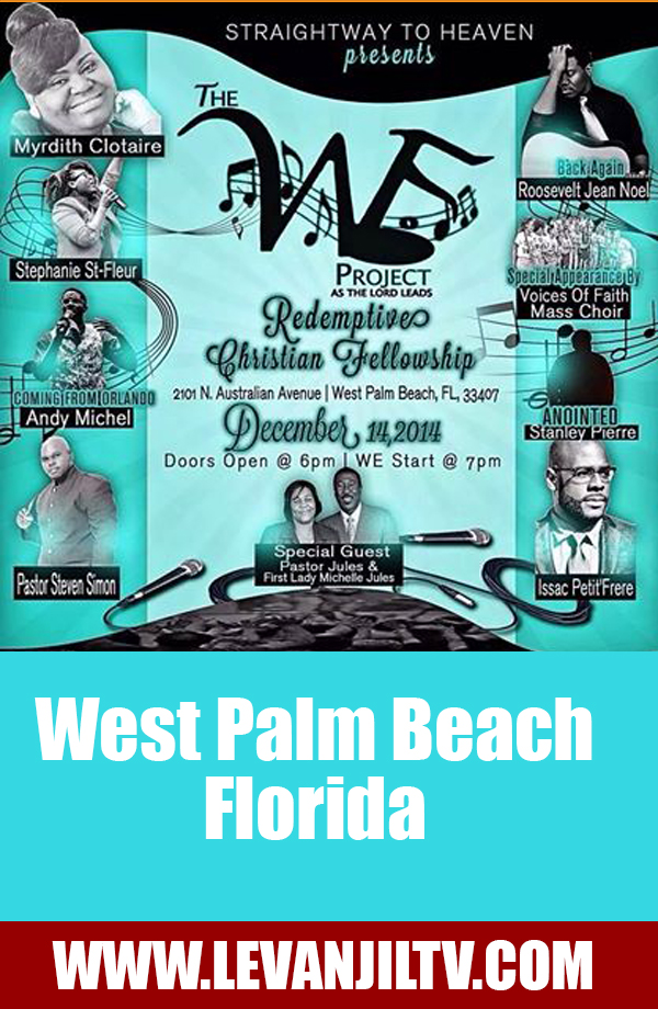 The WE Project In West Palm Beach Florida Sunday December 14th 2014 Event